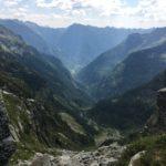 Steiler Abstieg ins Val Redorta